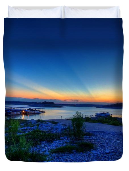 Duvet Cover featuring the photograph Days End by Dave Files