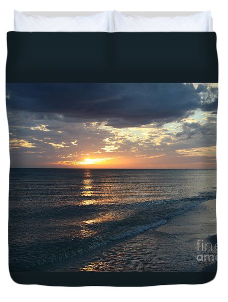 Days End Over Sanibel Island Duvet Cover
