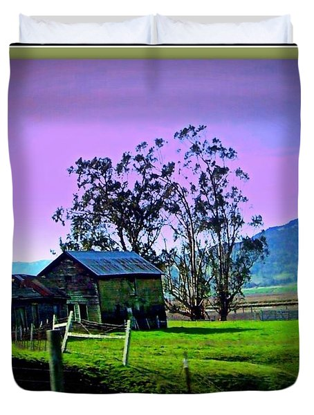 Duvet Cover featuring the photograph Days Gone By by Bobbee Rickard