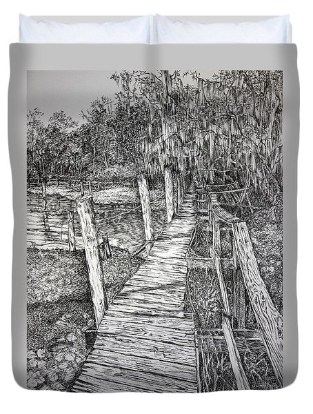 Days Gone By Duvet Cover by Janet Felts