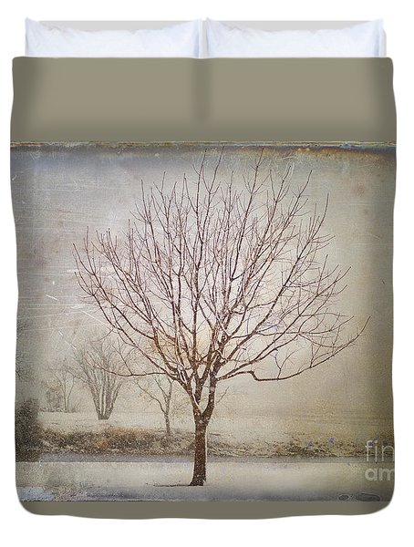 Days Of Old Duvet Cover by Betty LaRue