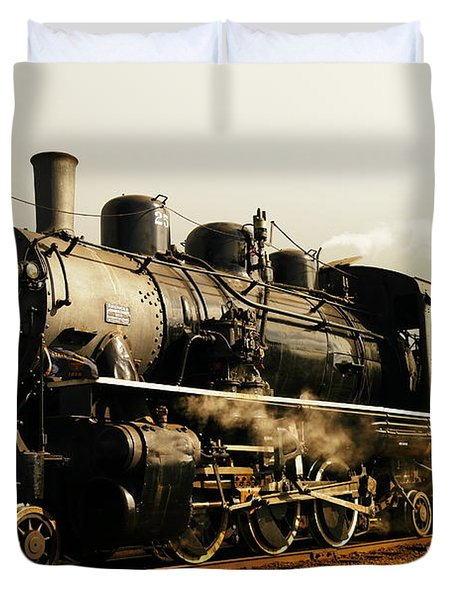 Days Of Steam And Steel Duvet Cover by Jeff Swan