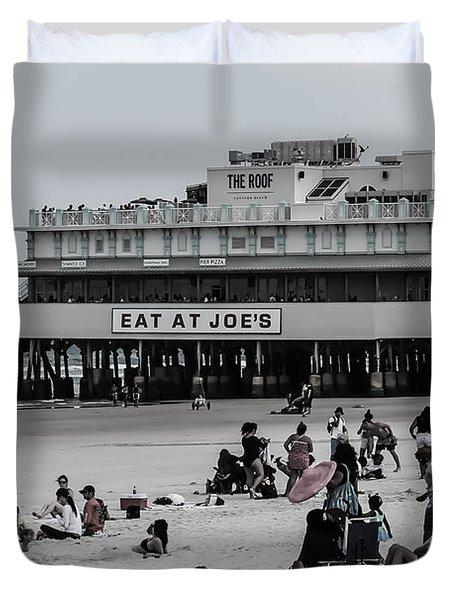 Daytona Beach Pier Duvet Cover