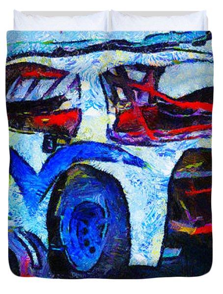 Daytona Bound Number 29 Duvet Cover