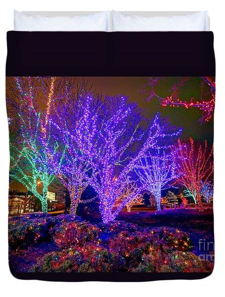 Dazzling Christmas Lights Duvet Cover