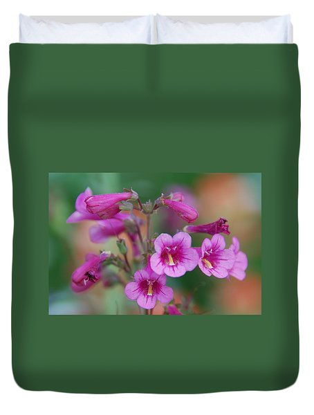 Duvet Cover featuring the photograph Pink Flowers by Tam Ryan