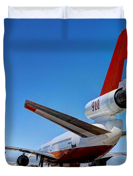 Duvet Cover featuring the photograph Dc-10 Air Tanker  by Bill Gabbert