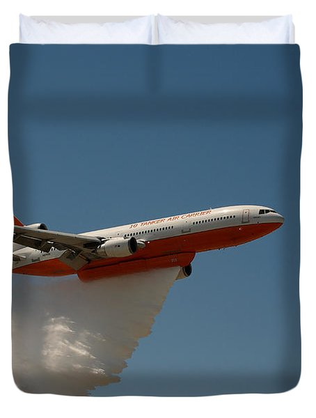 Dc 10 Air Tanker Duvet Cover