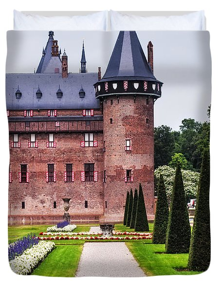 De Haar Castle 2. Utrecht. Netherlands Duvet Cover by Jenny Rainbow