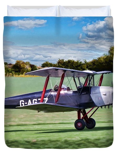 De Havilland Tiger Moth Duvet Cover