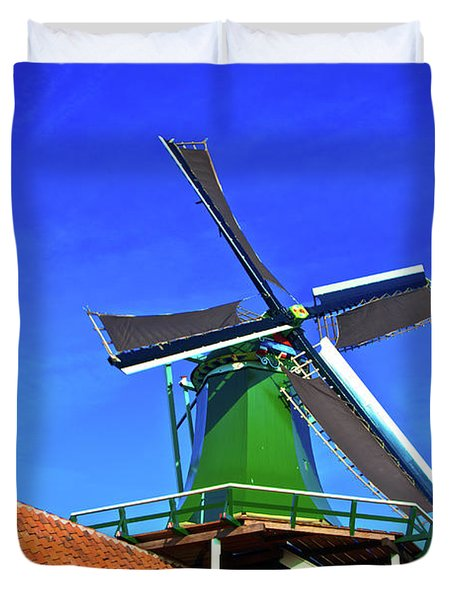 Duvet Cover featuring the photograph De Huisman Spice Mill by Jonah  Anderson