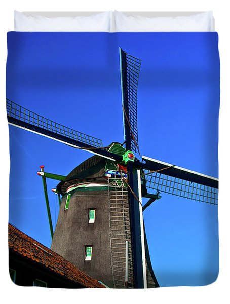 Duvet Cover featuring the photograph De Zoeker Blue Skies by Jonah  Anderson