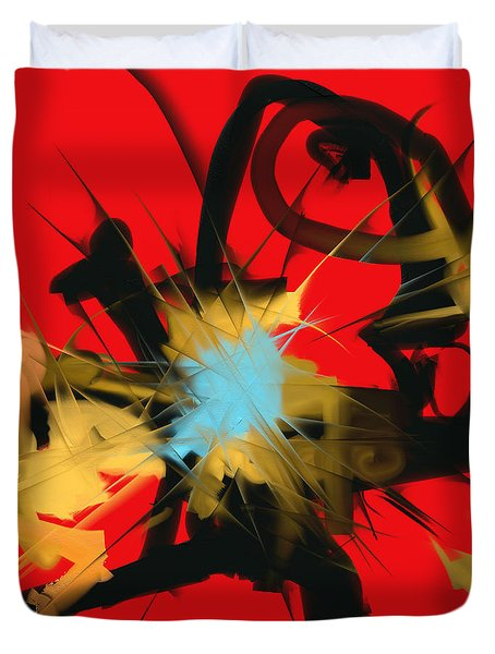 Deadly Fight Duvet Cover by Martina  Rathgens