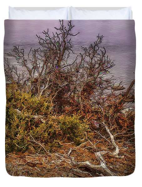 Duvet Cover featuring the photograph Deadwood by Nancy Marie Ricketts