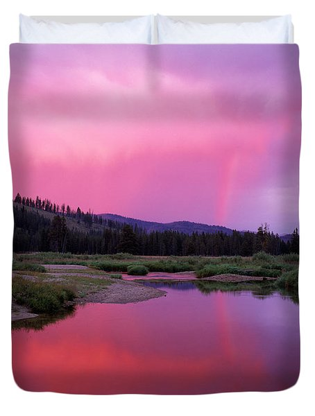 Deadwood River Duvet Cover by Leland D Howard