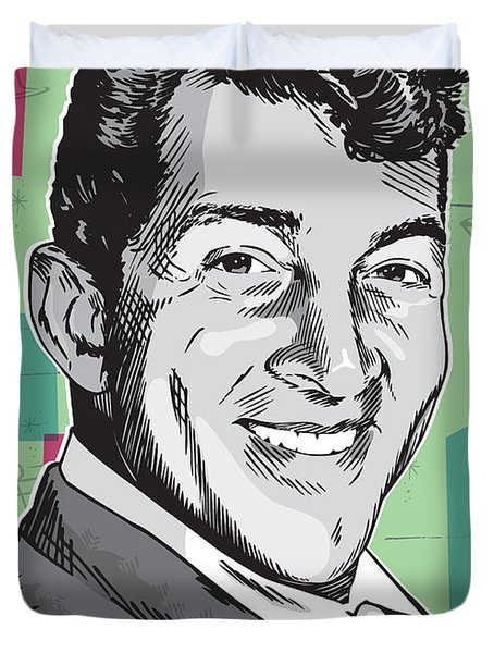 Dean Martin Pop Art Duvet Cover