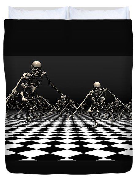 Death Approaches Duvet Cover