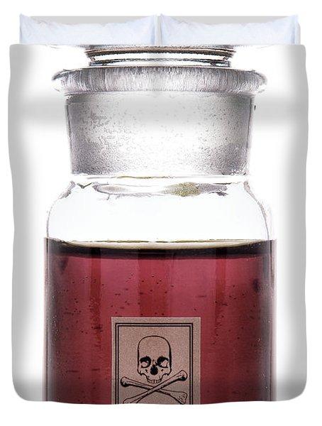 Death In A Bottle Duvet Cover
