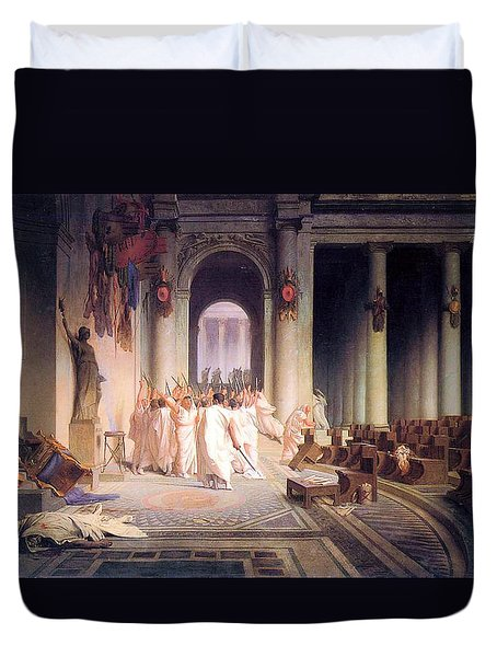 Death Of Caesar Duvet Cover