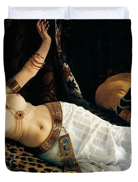 Death Of Cleopatra Duvet Cover by Achilles Glisenti