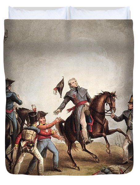 Death Of Sir John Moore January 17th Duvet Cover