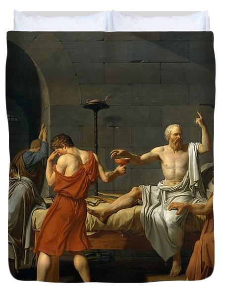 Death Of Socrates Duvet Cover