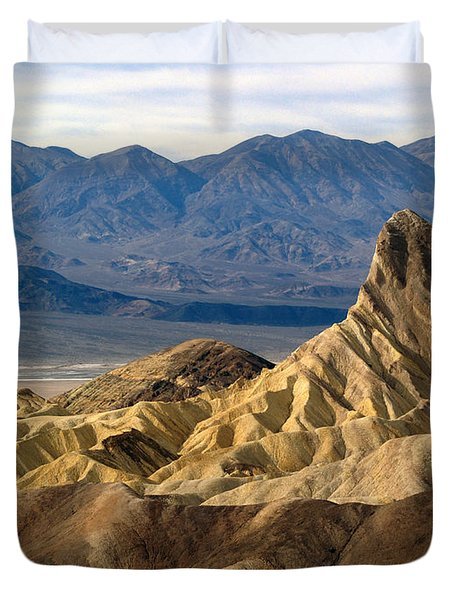 Death Valley Np Zabriskie Point 11 Duvet Cover