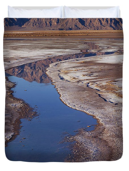 Death Valley Salt Stream 1 Duvet Cover