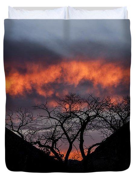 Death Valley Sunset Duvet Cover