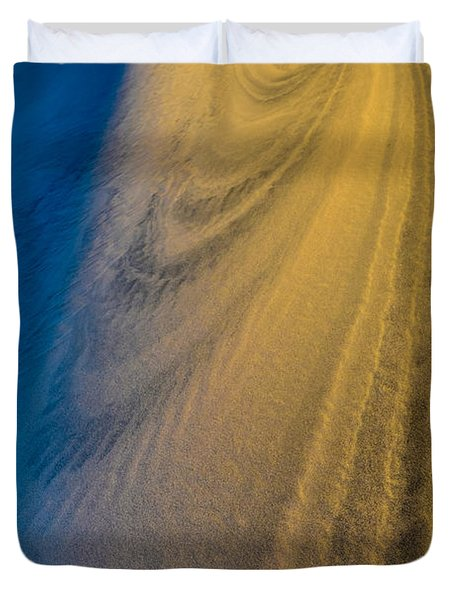 Death Valley Sunset Dune Wind Spiral Duvet Cover