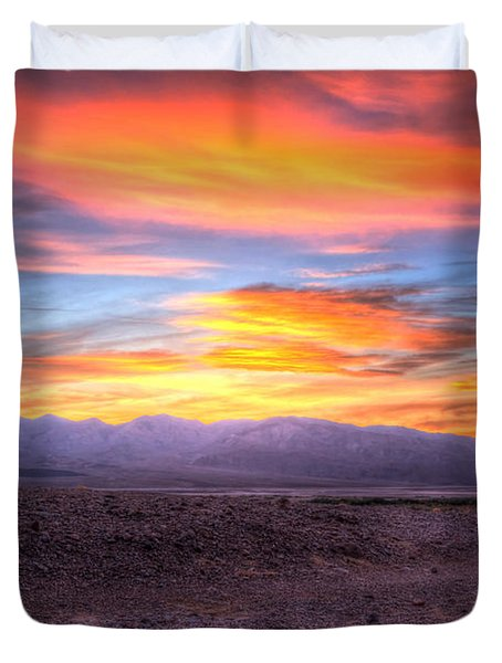 Death Valley Sunset Duvet Cover by Heidi Smith
