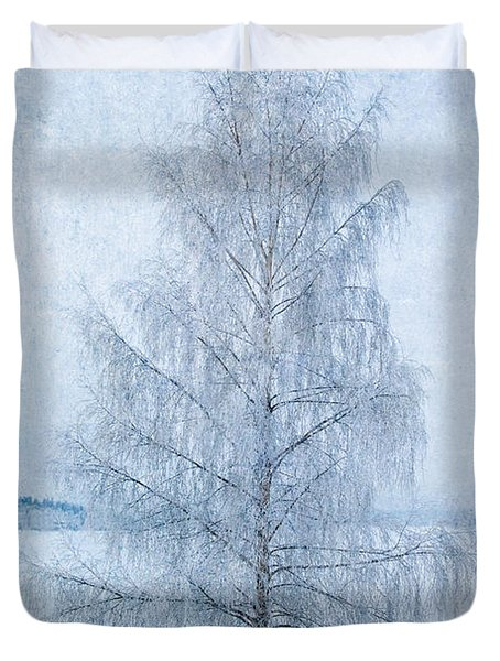 December Birch Duvet Cover