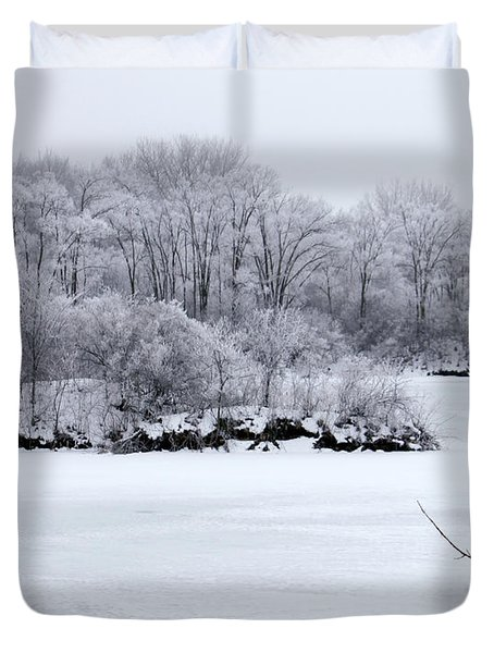 December Lake Duvet Cover