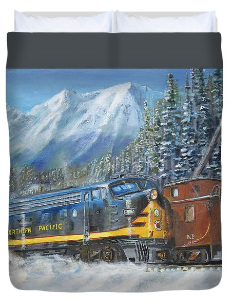 December On Stampede Pass Duvet Cover by Christopher Jenkins