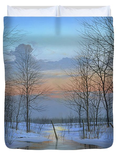 December Solitude Duvet Cover