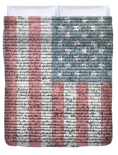 Declaration Of Independence Duvet Cover by Dan Sproul