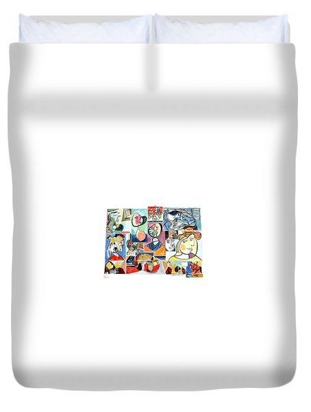Deconstructing Picasso - Women Sad And Betrayed Duvet Cover
