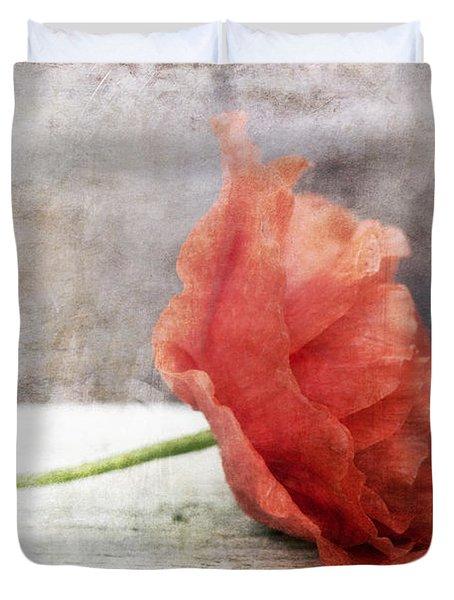 Decor Poppy Red Duvet Cover by Priska Wettstein