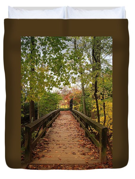 Decorate With Leaves - Holmdel Park Duvet Cover