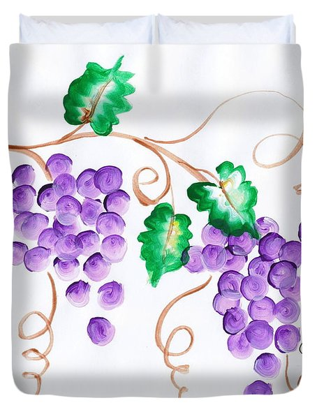Decorative Grapes Duvet Cover