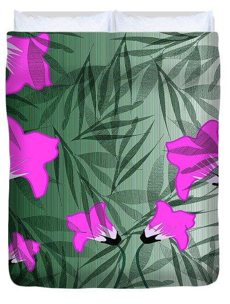 Decorative Pink Floral Duvet Cover
