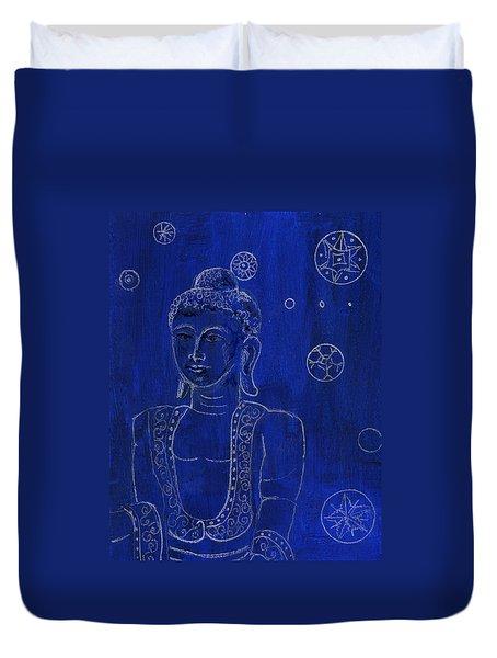 Deep Blue Buddha Duvet Cover