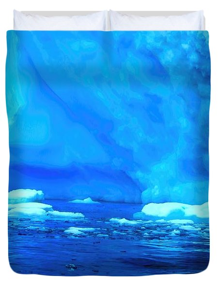 Duvet Cover featuring the photograph Deep Blue Iceberg by Amanda Stadther