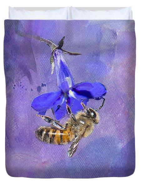 Deep In Purple Duvet Cover by Betty LaRue
