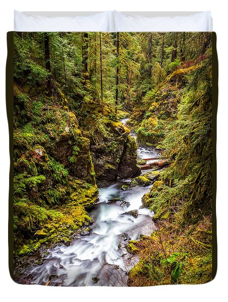 Deep In The Forest Duvet Cover by Ken Stanback