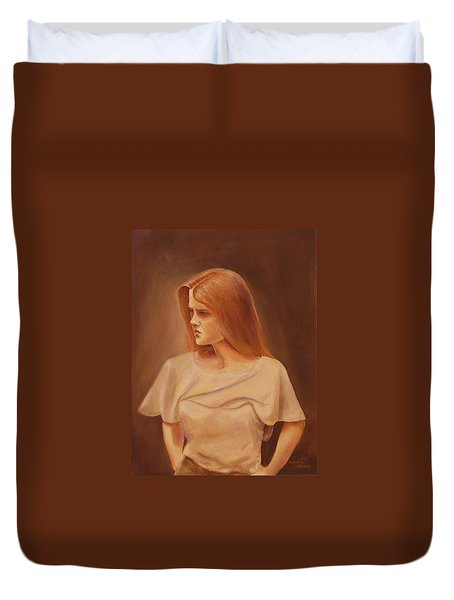 Deep In Thought Duvet Cover
