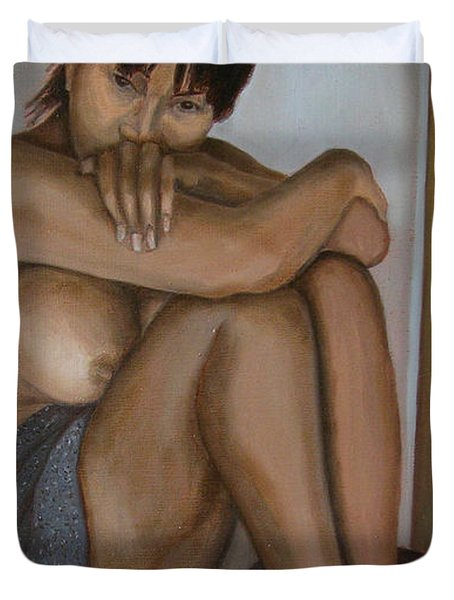 Deep In Thought Duvet Cover by Thu Nguyen