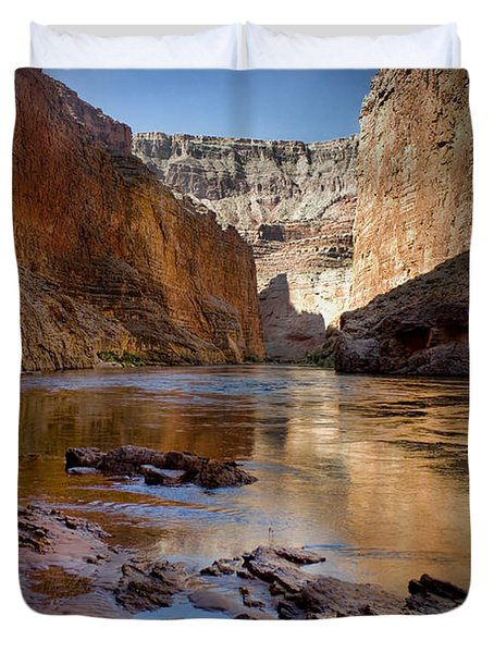 Deep Inside The Grand Canyon Duvet Cover