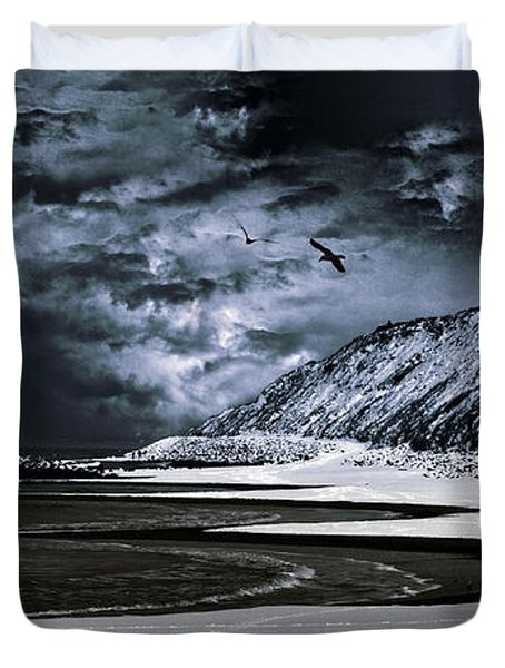 Deep Into That Darkness  Duvet Cover by Stelios Kleanthous