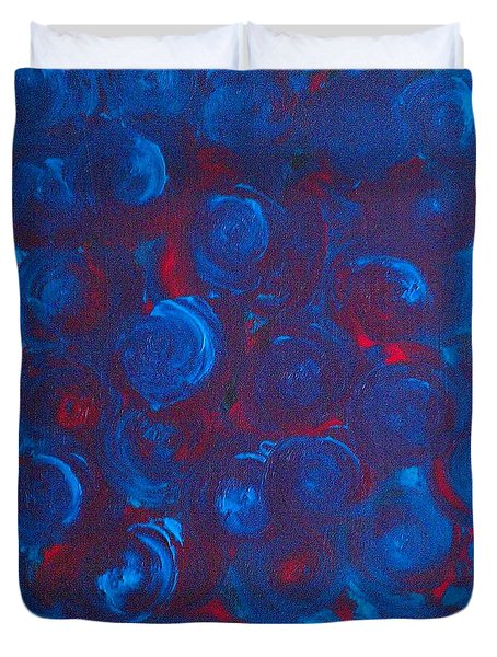 Duvet Cover featuring the painting Deep by Jacqueline McReynolds